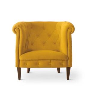 italienische-polstermöbel-wohnzimmer-möbel-gelber-sessel